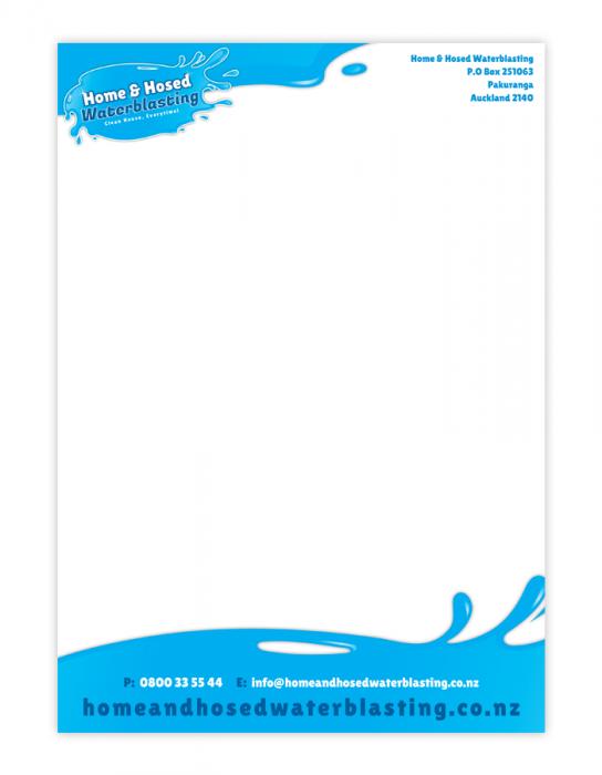 Justin telfer digital designer letterhead design portfolio home hose waterblasting spiritdancerdesigns Choice Image